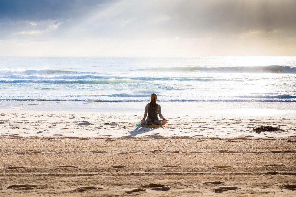 Yoga in Byron Bay Beach